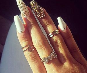 beauty, nails, and ring image