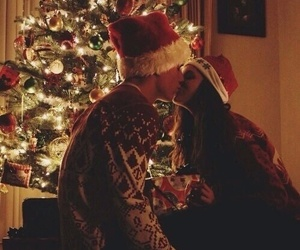 love, christmas, and couple image