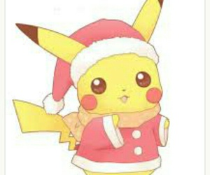 pikachu, christmas, and pokemon image