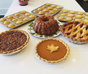 pie, thanksgiving, and food image