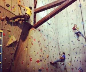 climb, rock climbing, and sports image