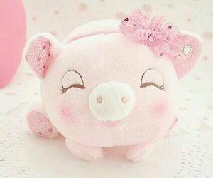 pink, kawaii, and pig image