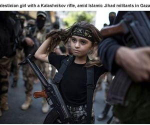 girl, palestine, and rifle image
