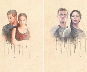 divergent, hunger games, and four image