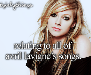 Avril Lavigne, song, and just girly things image