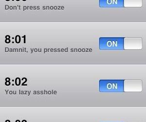 alarm, funny, and laugh image