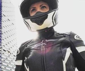 biker, curves, and girl image