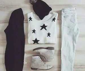 fashion, outfit, and stars image