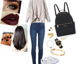 autumn, Polyvore, and clothing image