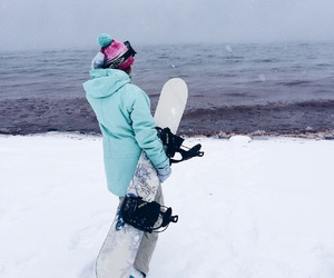 snowboard, snowboarding, and winter image