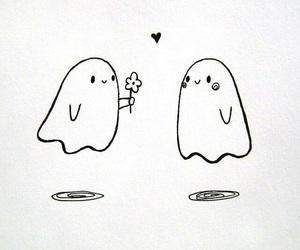 ghost, flower, and love image