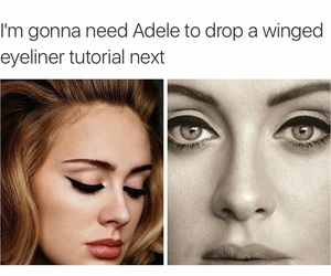 Adele, eyeliner, and makeup image