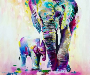 art, elephant, and draw image