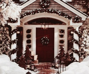 house, winter, and love image