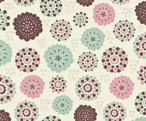 pattern, flowers, and wallpaper image