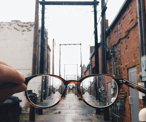 glasses, city, and photography image
