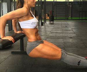 abs, fitness, and squat image