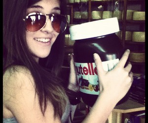 girl, nutella, and sweet image