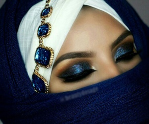 blue, tumblr, and blue makeup image