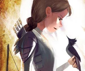 mockingjay, katniss, and the hunger games image