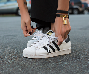 black, fashion, and adidas image