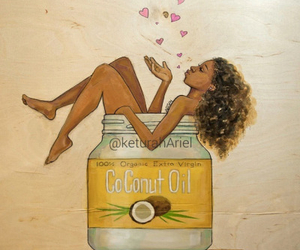 beauty, natural, and coconut oil image