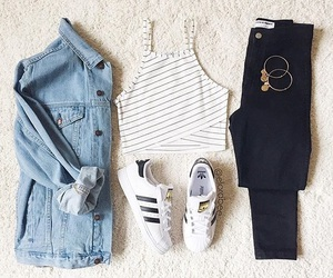 adidas, outfits, and black image