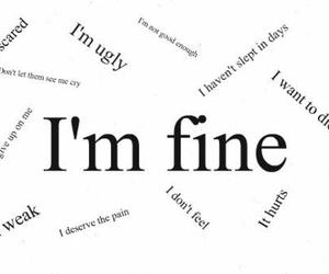 text, fine, and hurt image
