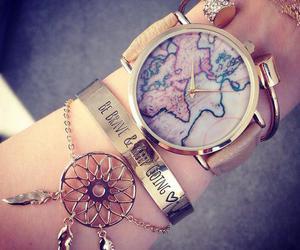 watch, bracelet, and world image