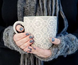winter, nails, and cup image