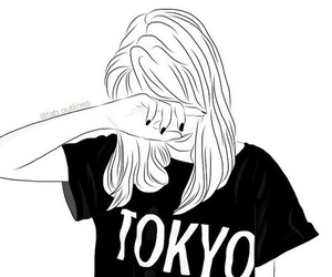girl, tokyo, and drawing image