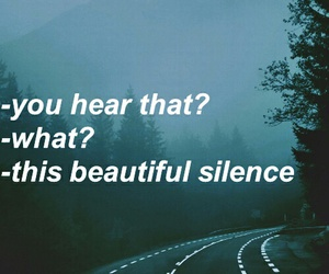 quotes, silence, and grunge image