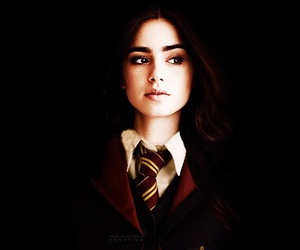 lily collins and harry potter image