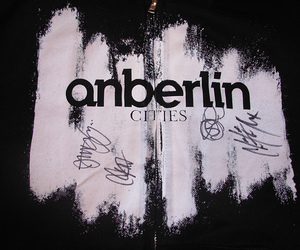 anberlin, autograph, and band image