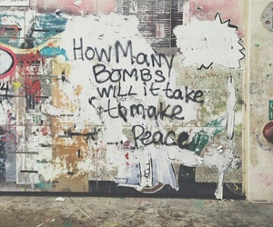 peace, bomb, and quotes image