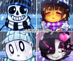 cuties, sans, and frisk image