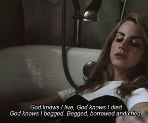 god knows i tried, honeymoon, and lana del rey image