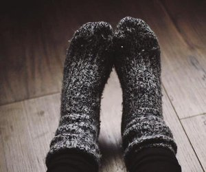 socks, autumn, and winter image
