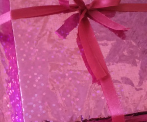 birthday, gift, and pink image