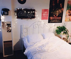 bed, room, and coca cola image