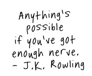 quotes, possible, and jk rowling image