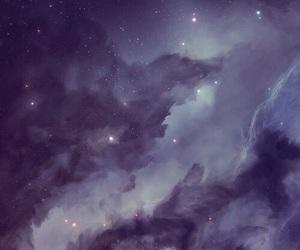 wallpaper, galaxy, and purple image