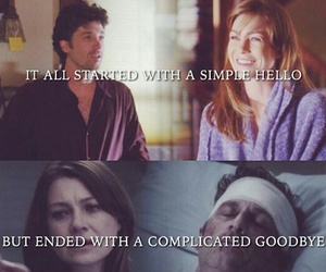 derek, Greys, and meredith image
