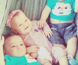 baby, brothers, and triplets image