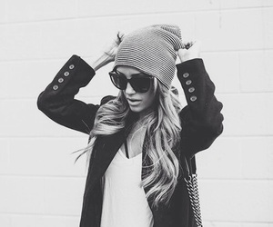 black and white, fashion, and girly image