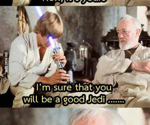 funny, star wars, and jedi image