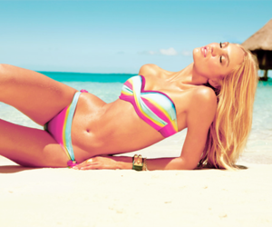 beach, candice swanepoel, and bikini image