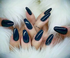 black, nails, and winter image