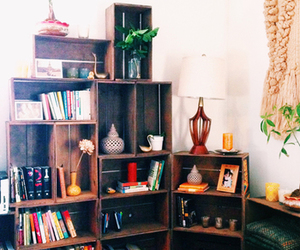 books, deco, and old image