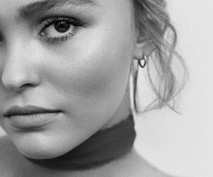 lily rose depp, black and white, and model image